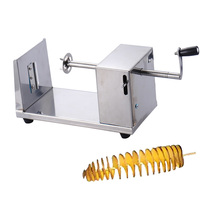 High Quality Twisted Potato Spiral Cutter Machine Stainless Steel Vegetable Slicer Cut Chips Tornado Fries Cranked Kitchen Tools