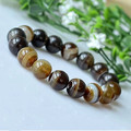 Yellow Agate Beads Bracelets Natural Stones Elastic Line Bracelet Men Jewelry Women Bracelet Fashion Wristband 0239