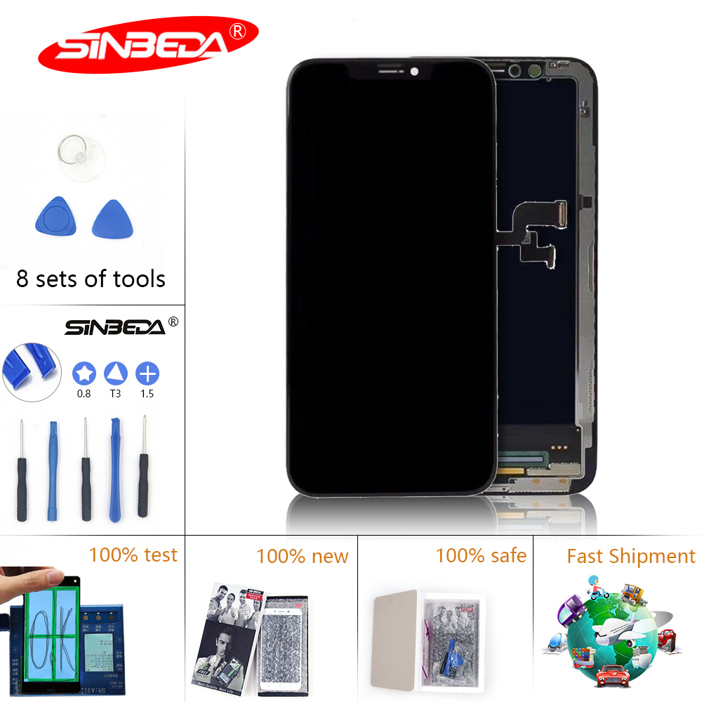 Sinbeda With 3D Force For iPhone X LCD Display Touch Screen Digitizer Assembly Replacement Display For iPhone X LCD Screen in Mobile Phone LCD Screens from Cellphones Telecommunications