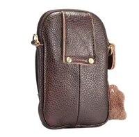 Holster Shoulder Belt Clip Genuine Leather Mobile Phone Case Dual Pouch For BlackBerry Priv Venice ZTE
