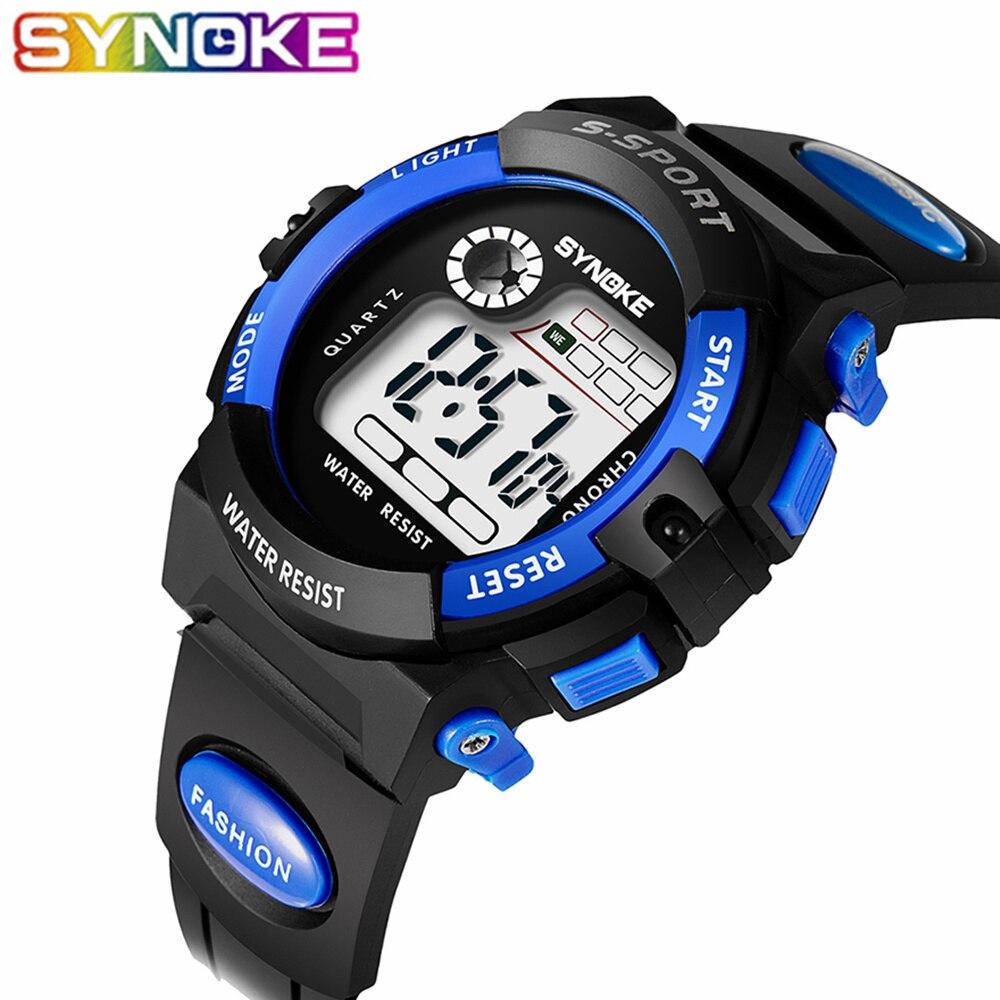 SYNOKE Sport Watch Students Children Watches Kids Watches Boys Girls Child LED Digital Watch Clock Wristwatch For Boy Girl Gift