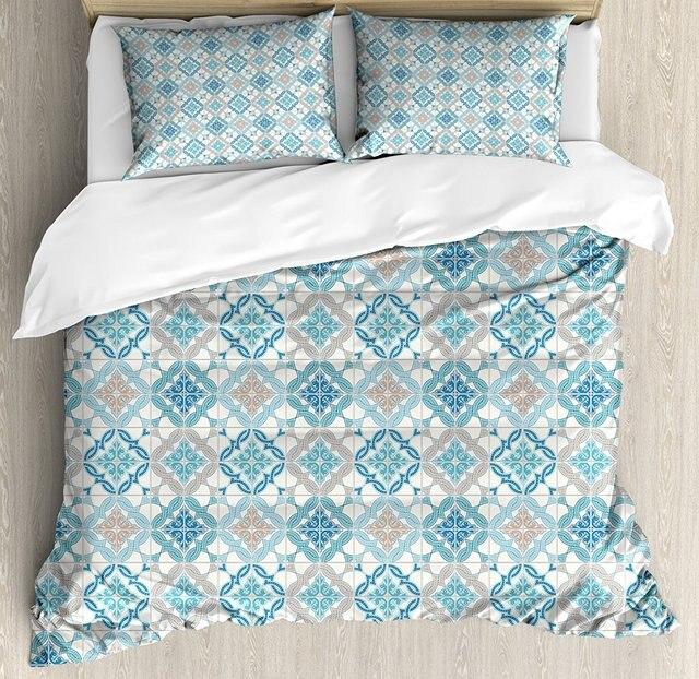 Bettbezug Set Verwirrt Moderne Lissabon Muster Basierend Auf