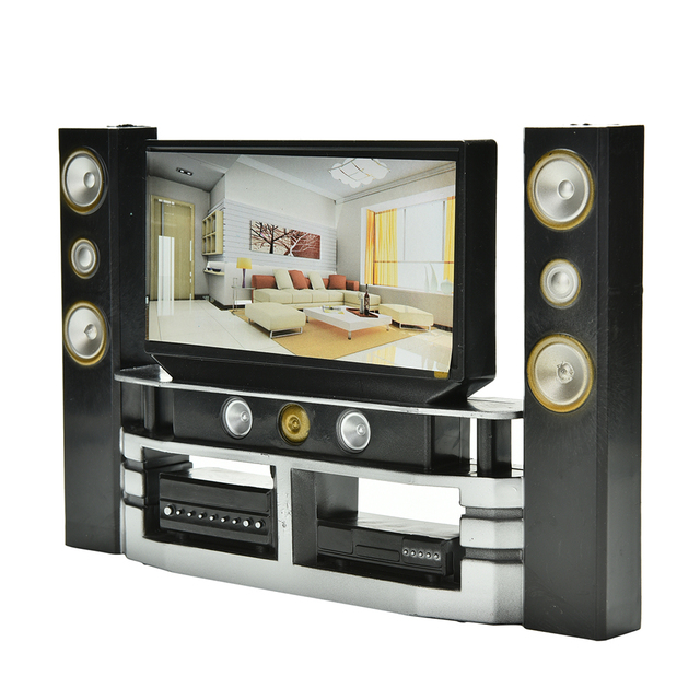 New Arrival Mini Hi Fi 1:6 TV Home Theater Cabinet Set Combo For