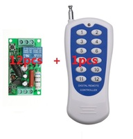 220V 1CH Radio Wireless Remote Control Switch light lamp LED ON OFF 12 Receivers &1 transmitter Learning Code Output Adjusted