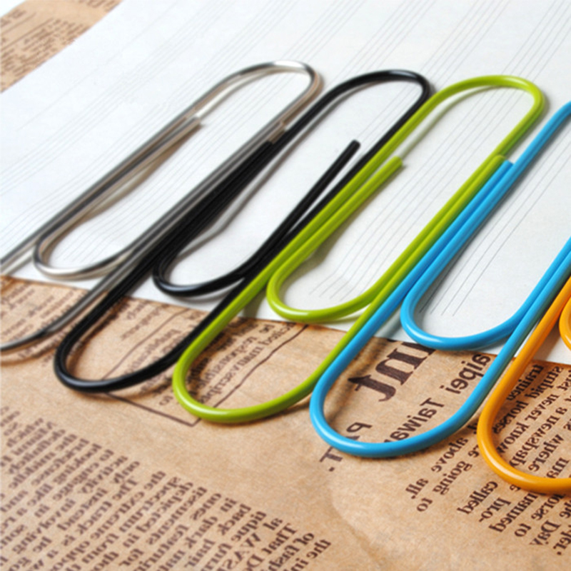 Cute Book Mark Office Supplies Multicolour Large Paperpaper Needle Cute Bookmark Paper Clip Pin Bookmark Metal Big Paper Clips