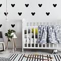 Микки Маус, детская комната, домашний декор, девичья комната, наклейка на стену для детской комнаты, мальчик, спальня, виниловый Настенный декор, Детская Наклейка на стену s - фото