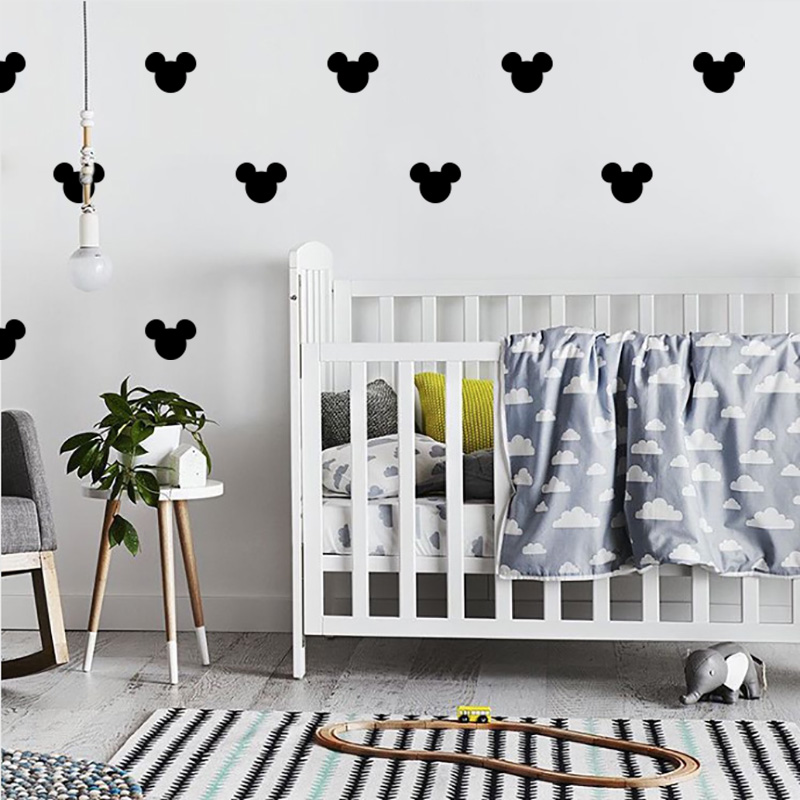 US $0.56 5% OFF|Mickey Mouse Baby Room Home Decor Girl Room Wall Sticker  For Kids Room Boy Bedroom Vinyl Wall Decor Nursery Kids Wall Stickers-in  Wall ...