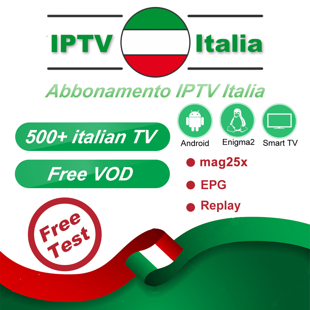 H96 Max IPTV Italia Box M3U8 Subscription IPTV Italy Channels Mediaset Premium For Android Box Enigma2 Smart TV PC Linux