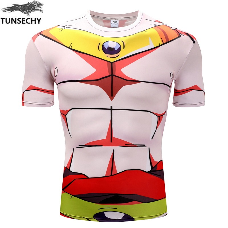 High quality dragonball z DBZ Saiyan Goku anime bodybuilding Tights interesting humorous cartoon 3 d T-shirt summer clothes