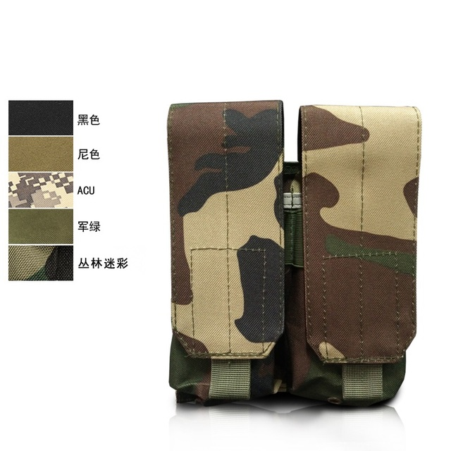 Military Tactical Dual Coup Dump Molle Tactical Vest Accessory Pack Outdoor Lanyard Bag Tool Kit