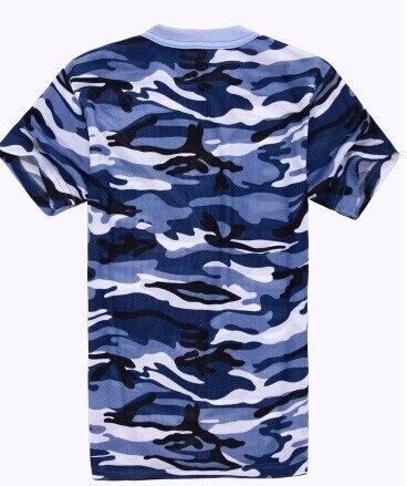 Marine camouflage desert training  jungle camouflage  suit military field training men short-sleeved camouflage T-shirt S-4XL