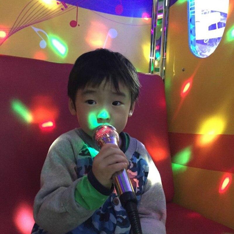 ZjRight IR Remote LED Crystal Rotating Ball Stage Light Kids dancing birthday effect light dj Holiday Xmas Halloween party light