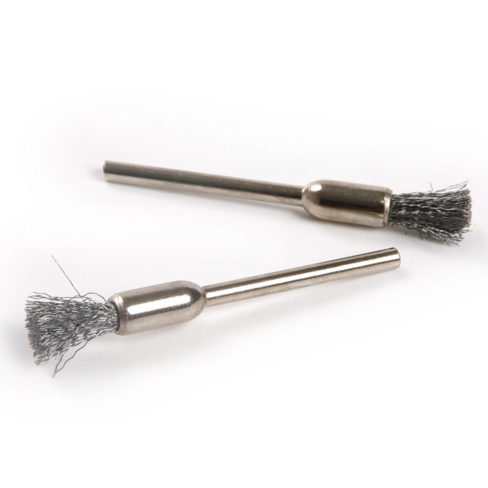 1//8 Shank Brass Polishing End Brush Fit Dremel Set of 20