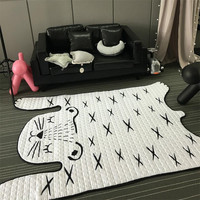 130 185cm Soft Kids Carpet Floor Cotton Mat Living Room Baby Rugs And Carpets Bedroom Home