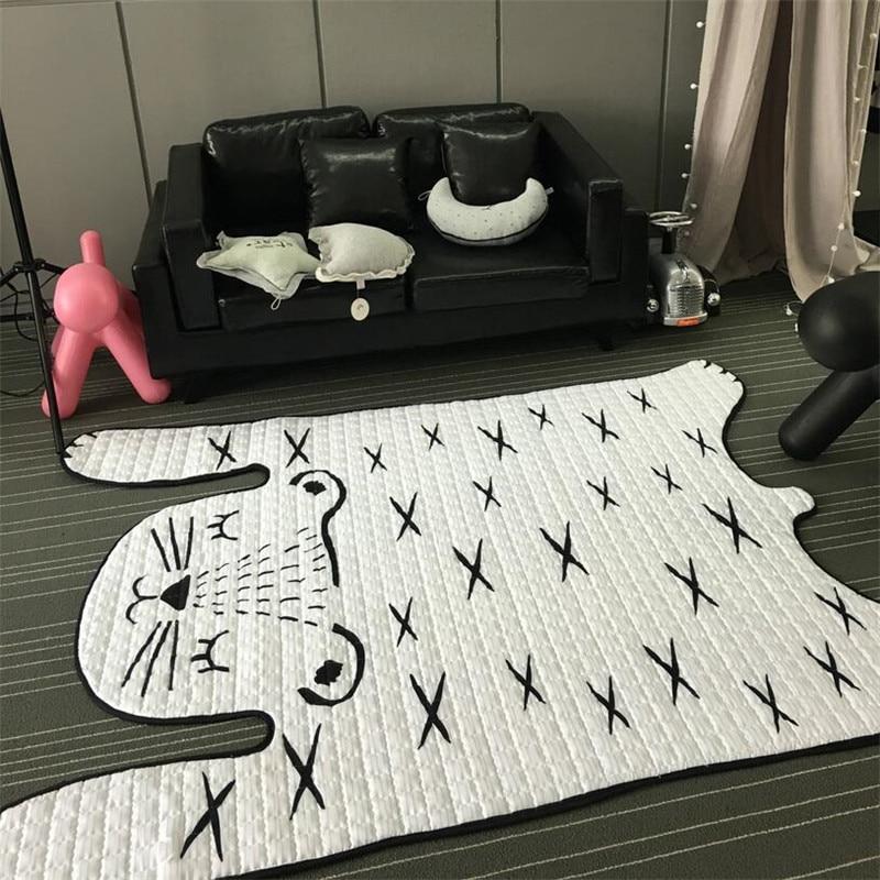 130*185 cm doux enfants tapis plancher coton tapis salon bébé tapis et tapis chambre maison fournitures Tapete décoration Alfombra