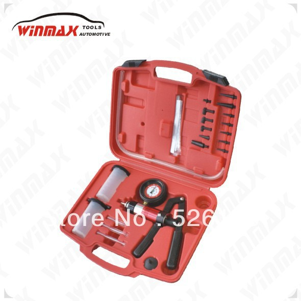 WINMAX Hand Held Vacuum Pump Brake Bleeder Set Bleed tester Tool Kit with 2 Jars Auto WT04100 free shipping 10pcs lot bit3251 sop 8 smd backlight driver chips new original