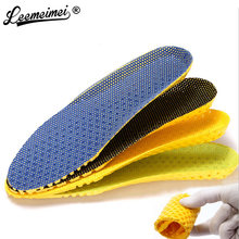 Free Shipping Sponge 1 Pair Shoes Pads Heel Cushion light weight breathable men &women Insoles Foot Massager(China)