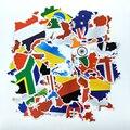 37 шт. Пвх Водонепроницаемый Флаг Тема Наклейки Чемодан Граффити Скейтборд Ноутбука Стикер Карта Форма Наклейки Холодильник Игрушка