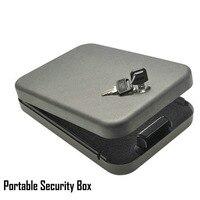 Security Key Safes Portable Car Safe Box Handgun Valuables Money Jewelry Storage Box Strongbox 1 2mm