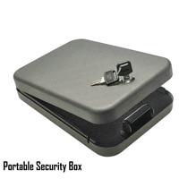 Promo Llave de seguridad caja de seguridad portátil para coche, caja de seguridad, objetos de valor para dinero, caja de almacenamiento, caja fuerte, acero laminado en frío de 1,2mm hoja de