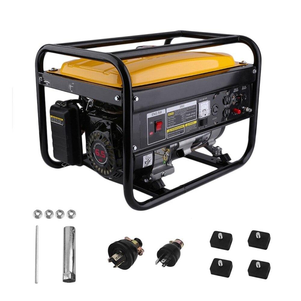 Heavy Duty 4000W 6.5HP 110/220V Car Dual Voltage Portable 4 Stroke Low Noise Gasoline Gas Generator Powerful Engine