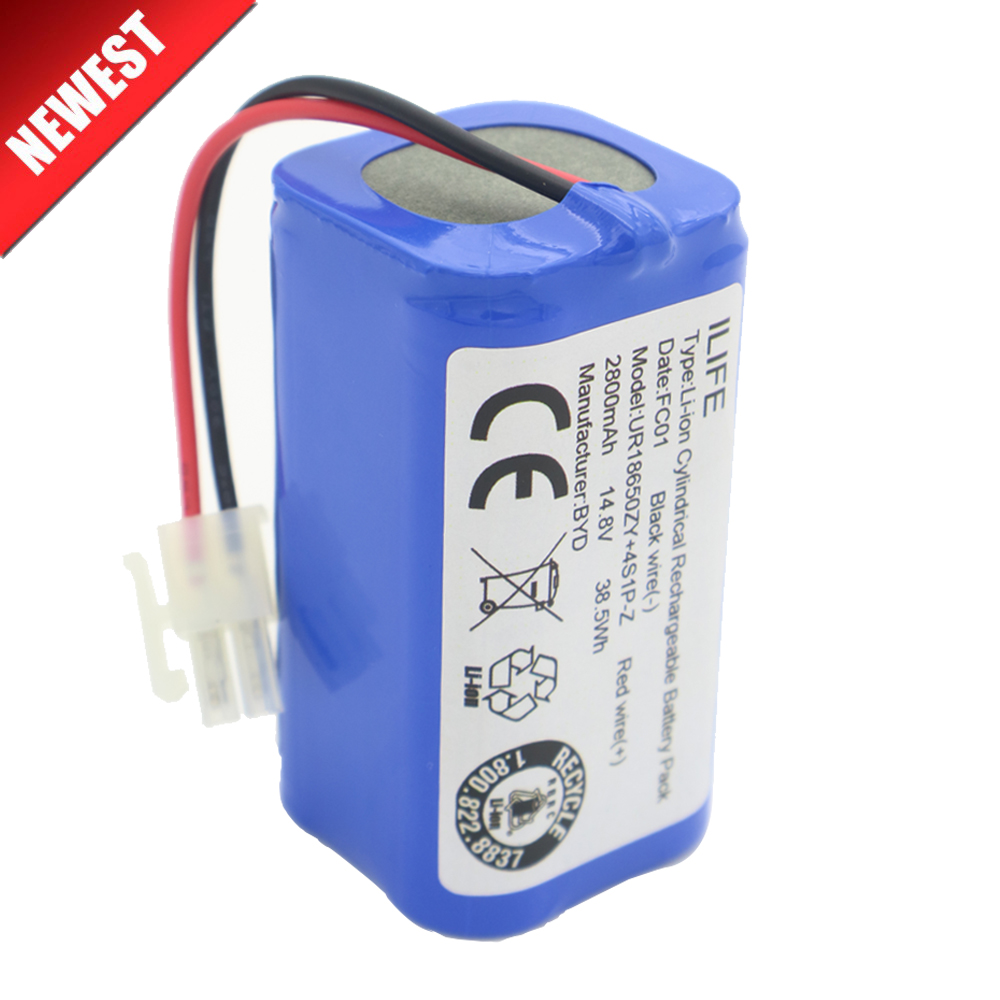 Haute qualité Rechargeable ILIFE ecovacs Batterie 14.8 v 2800 mah robotique cleaner accessoires pièces pour Chuwi ilife V7s A6 V7s pro