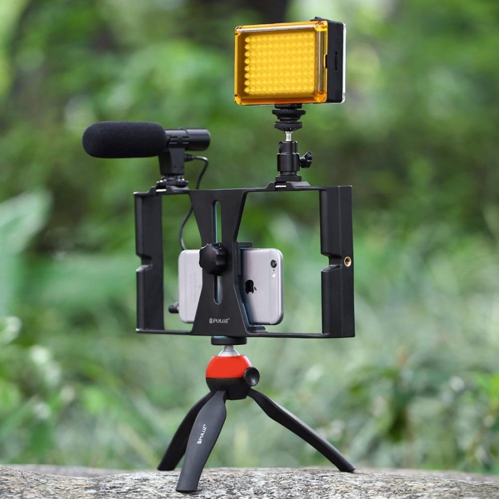 5-in-1 U-Rig Pro Smartphone Video Rig Mounts Filmmaking Case Handheld Phone Video Stabilizer Grip Tripod Mount Stand + 3.5mm Mic