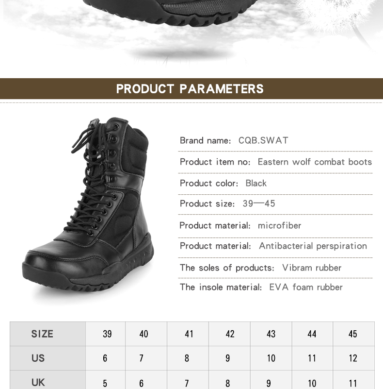 Großhandel CQB.SWAT 2018 Armee Stiefel Männer Tactical Boot Schwarz Frühling Kampf Und Atmungsaktive Stiefel Mit Reißverschluss ZD 022 East Wolf Von