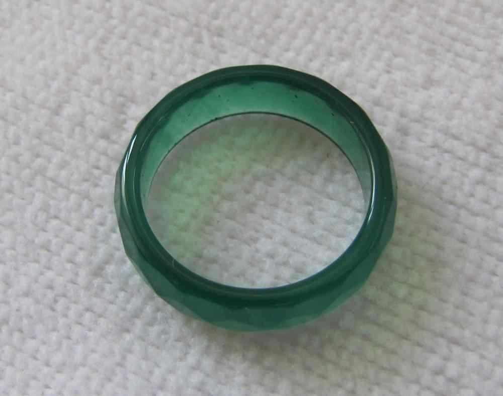 ปรับแหวนธรรมชาติสีเขียวมือแกะสลักนิลหยกแหวนขนาด7-8.5 #หินธรรมชาติ