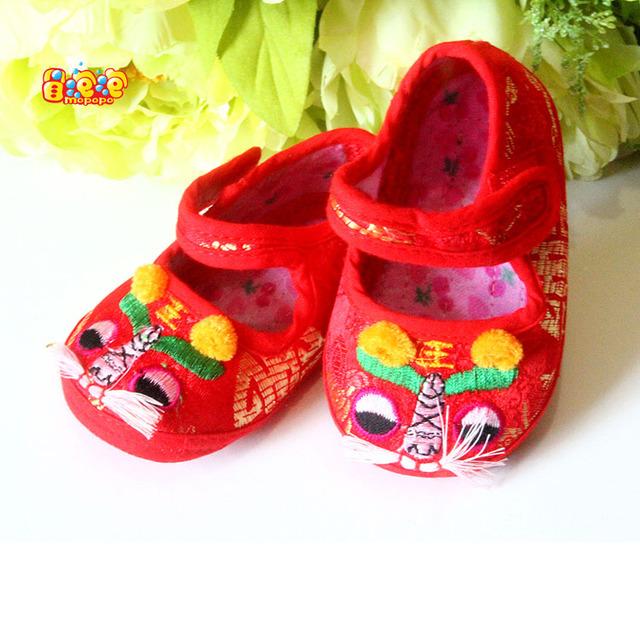 Mopopo Zapatos de Bebé Recién Nacido Otoño Zapatos Caminante Estilo Chino Tang Suave Zapatos Del Bebé Primer Caminante Unisex Caliente de La Venta