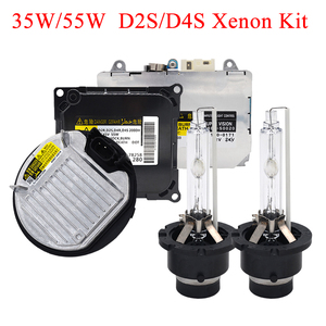 Image 1 - SKYJOYCE оригинальный 35 Вт 55 Вт Xenon D2S D4S HID Комплект 4300K 5000K 6000K D2S D2R D4R D4S HID лампа D2S D4S Автомобильная фара HID балласт комплект