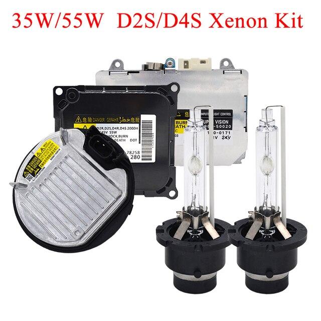 SKYJOYCE оригинальный 35 Вт 55 Вт Xenon D2S D4S HID Комплект 4300K 5000K 6000K D2S D2R D4R D4S HID лампа D2S D4S Автомобильная фара HID балласт комплект