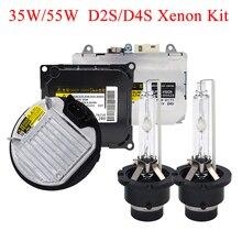 SKYJOYCE oryginalne 35 W 55 W Xenon D2S D4S zestaw HID 4300 K 5000 K 6000 K D2S D2R D4R D4S HID żarówki D2S D4S reflektor samochodowy przetwornica zestaw