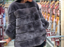 real rex rabbit fur poncho coat jacket stripe with batwing sleeve free shipping furry winter warm half sleeve 2018 pink clothes