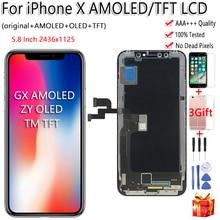 Nero ZY OLED Per il iphone X Display LCD Touch Screen Tianma TFT GX Digitizer Assembly Strumenti Gratuiti Per iPhone X LCD