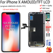Zwart ZY OLED Voor iPhone X Lcd scherm Touch Screen Tianma TFT GX Digitizer Vergadering Gratis Tools Voor iPhone X LCD