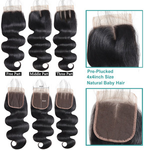 Image 3 - Brazilian Body Wave Bundles With Closure Allove 4X4 5X5 Closure With Bundles 100% Human Hair Bundles with Closure Non Remy