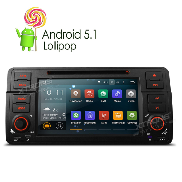 10 1 Quad Core Android 5 1 1 Universal Car DVD player Audio GPS Navi WIFI RDS