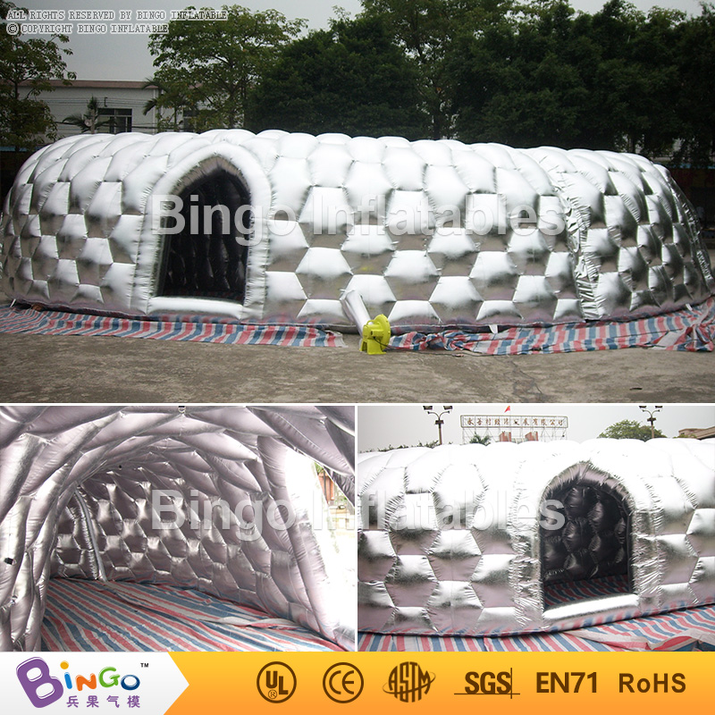 32M / 105FT Sliver inflatable tunnel, inflatable maze for outdoor huge event event