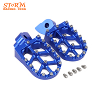 Motorcycle CNC Foot Pegs Footpeg Pedals Rests For Husqvarna CR SM WR SMS WRE TC TE TXC TXCi 50 65 125 150 250 300 310 360 400