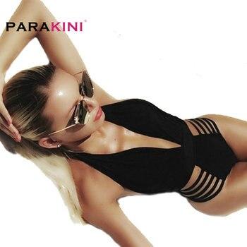 Parakini 2019 새로운 섹시한 딥 브이 넥 원피스 수영복 여성 수영복 수영복 수영복 하이 컷 브라질 monokini 수영복