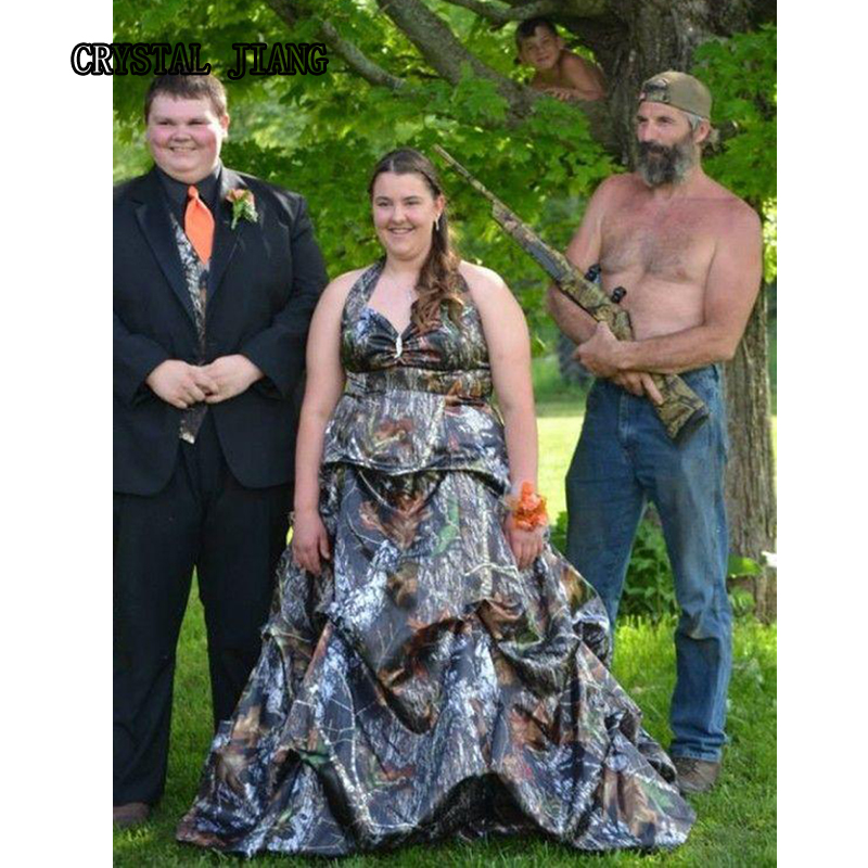 Mossy Oak Camo Wedding Dresses 2017 Plus Size Sweep Train Coutry Wedding  Pick Up Bridal Gown Custom Made In Wedding Dresses From Weddings U0026 Events  On ...