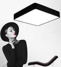 Modern Remote control surface mounted ceiling lamp square LED panel White/Black for bathroom lighting AC110-240V luminarias para modern square led panel surface mounted ceiling light white black bathroom ac110 240v luminarias para