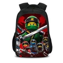 3D Lego Cartoon Children Bags For Girls Boys Bookbags Cute Batman Ninjago Print School Backpack For Kids Teenagers Backpacks