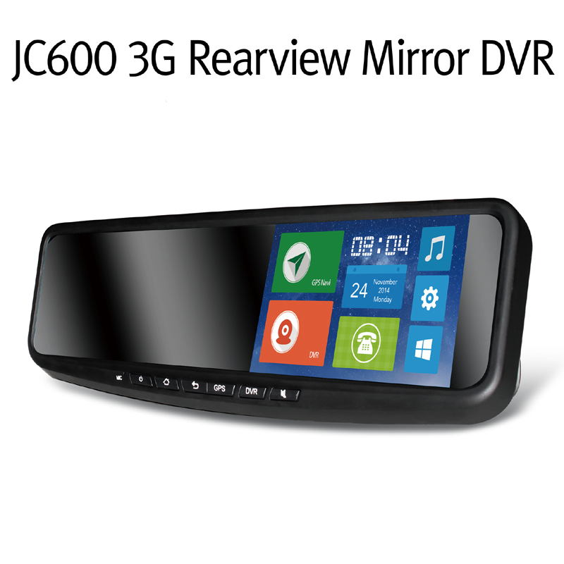 JC600 720P 3G Android Mirror Camera Strap Version with WCDMA Dual-Band For Europe & Optional for HD Rearview Camera & TF Card