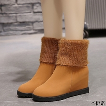 new Women martin boots suede autumn winter warm plush fur shoes woman feminina female motorcycle ankle boots women botas mujer