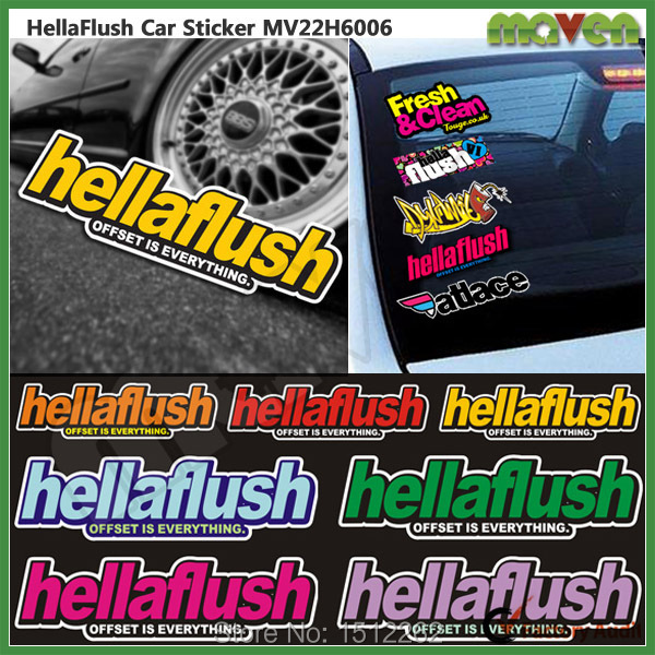 PCS Hellaflush Waterproof Auto Car Windshield Decals SPEED - Vinyl stickers for motorcyclesaliexpresscombuy hellaflush car stickers vinyl waterproof