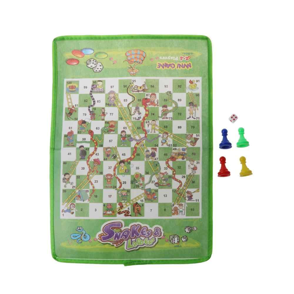 Traditional Snakes and Ladders Family Board Game Playset Children Toys Best Gift
