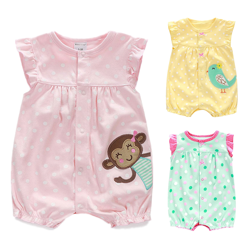 1b01a5b0f107 Buy Summer Baby Rompers Cartoon Newborn Girls Clothes Toddler Boys ...