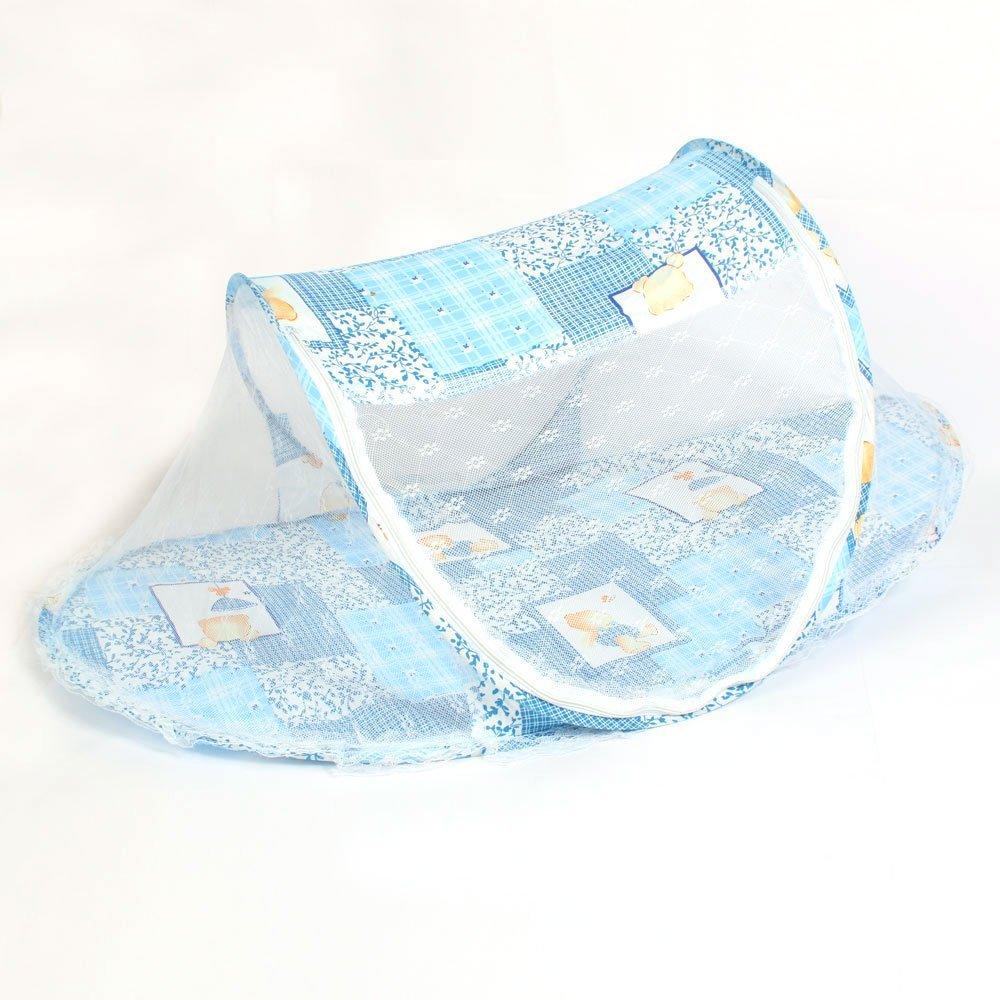 Adaptable Draagbare Baby Bed Crib Folding Klamboe Kussen Matras Zomer Baby Zuigelingen Muggen Polyester Mesh Wieg Netting Blauw